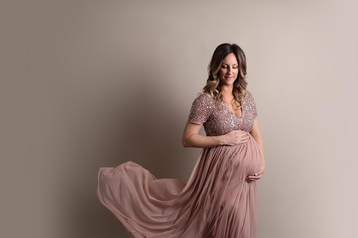 maternity gown ottawa studio photography